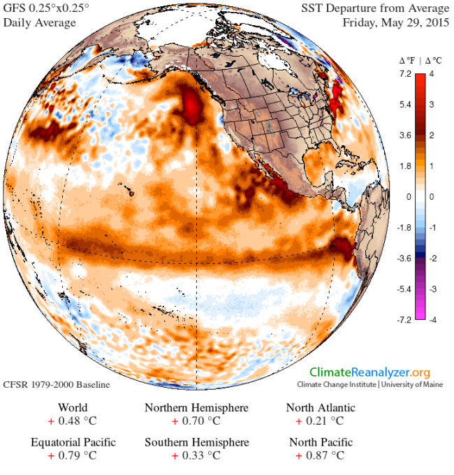 SST Anomaly 29 May 2015