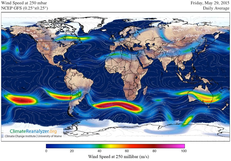 World Jet Stream May 29 2015
